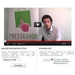 Option pour Shop Online - Splash Screen